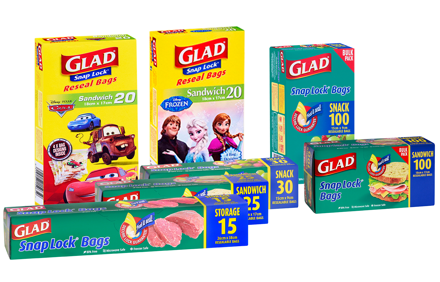 Glad 174 Snap Lock 174 Resealable Bags Better Living