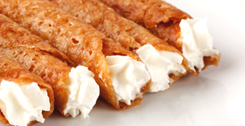 Brandy Snaps with Ginger Cream