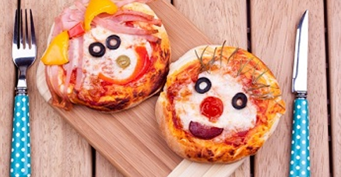 Mini Animal Pizza Faces