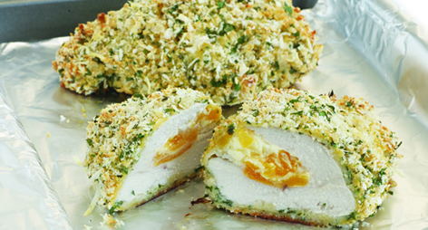 Cream Cheese & Apricot Stuffed Chicken
