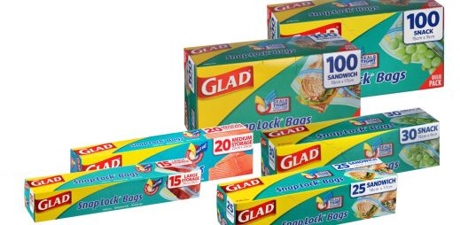 GLAD® Snap Lock® Resealable Bags
