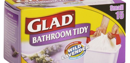 GLAD® Bathroom Tidy Drawstring