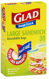 GLAD® Snap Lock® Big Sandwich Bags